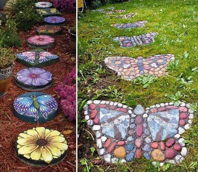 20 summer decorating ideas for home and garden to make - Garden stone decorations ...