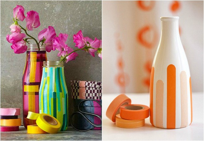 summer-decorating-ideas-vases-washi-tape