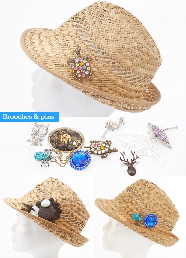 summer fashion crafts straw hat ideas brooches