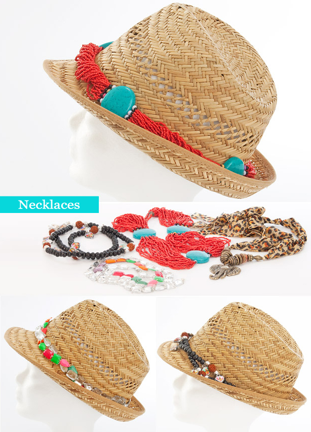 summer straw hat diy fashion ideas necklaces