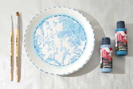 wall plates decorating idea napkin acrylic paint & DIY decorative wall plates - Decoupage on glass and ceramic plates