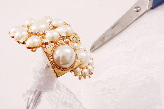 diy brooch wedding bouquet wire lace brooch flowers