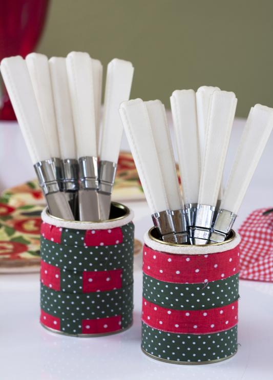 diy kitchen storage ideas cutlery organizing tips tin cans