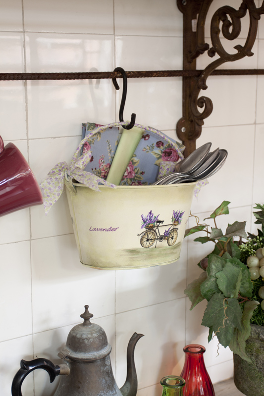 diy kitchen storage ideas cutlery solutions bucket lavender hanging