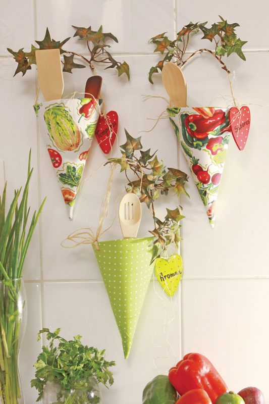 diy kitchen storage utensils solutions paper cones