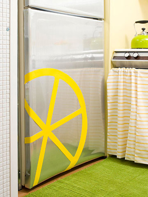 Kitchen Lemon Decor Yellow Sticker Refrigerator
