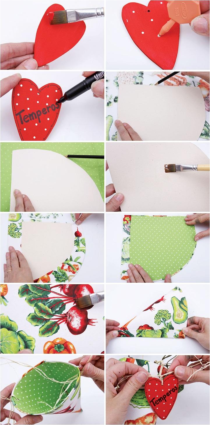 kitchen utensils storage ideas handmade paper cones fabric