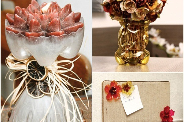 3 easy craft ideas for recycling plastic bottles in the for Decorative items for home with waste material