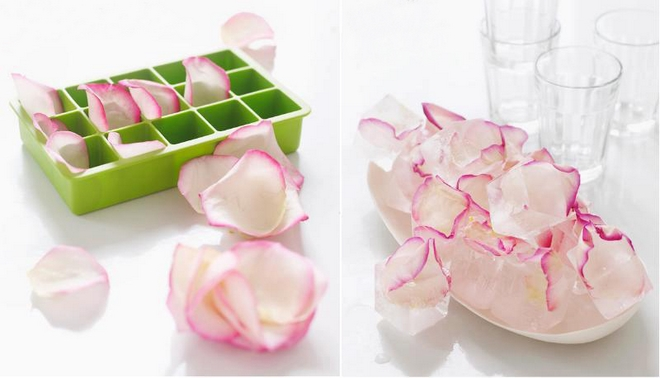 summer-decorating-ideas-ice-cubes-wrapped-rose-petals