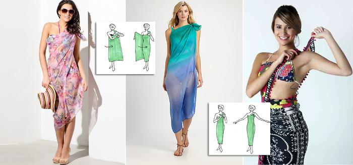 Create a sarong style maxi dress