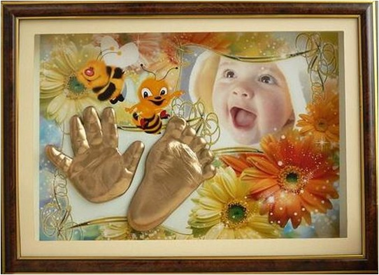 baby keepsakes santimental palm foot print gold