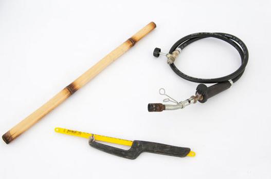creative frame decoration bamboo chared sticks