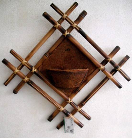 diy bamboo wall decor idea
