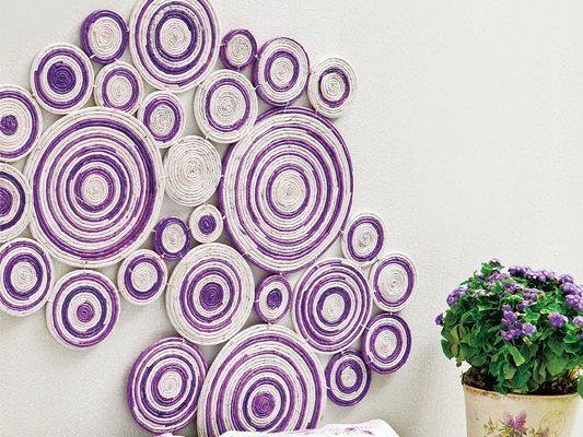 DIY wall art projects using newspaper Kitchen and bedroom wall decor