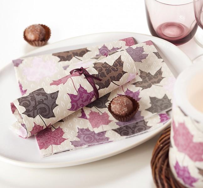 fall pattern napkin table decor inspiration ideas