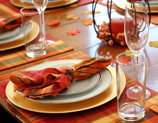 fall table napkin decor ideas pumpkin napkin holder