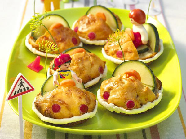 fun appetizers snacks kids party muffin cars cucumbers
