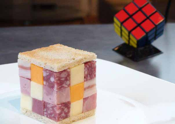 appetizers snacks recipes kids party sandwich rubiks cube salami
