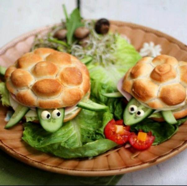 fun easy kids snacks recipes turtles burgers