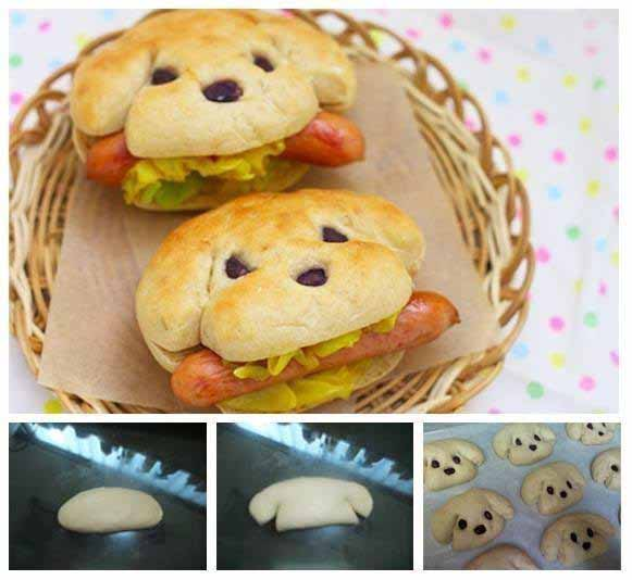 fun easy party kids snacks hot dog face
