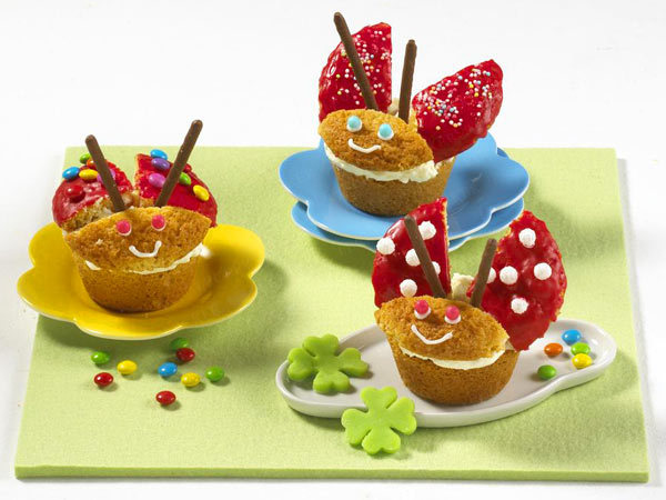 funny muffins ladybugs sweets kids party recipe