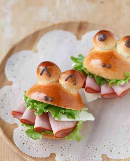happy frogs burgers bread kids party fun easy