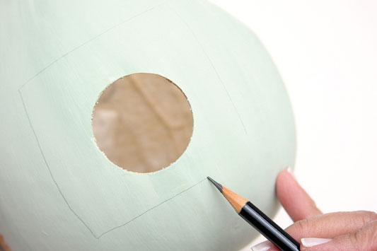 paint technique gourd bird
