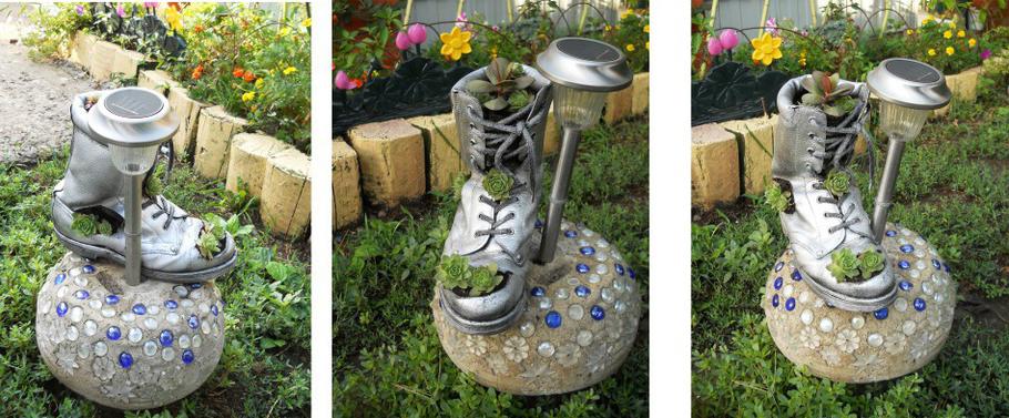 shoe pot unique garden decor idea