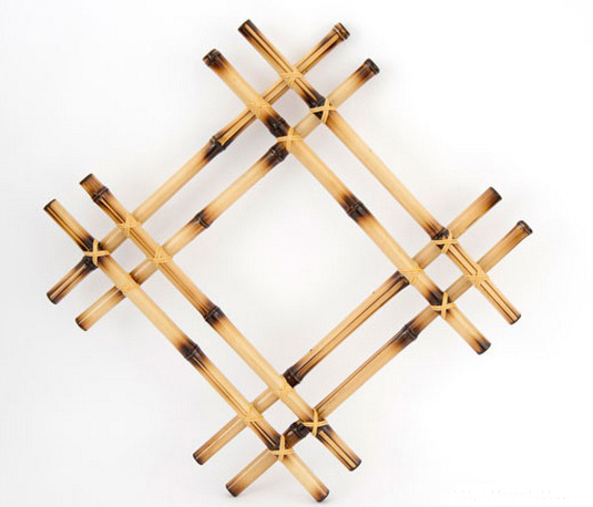 bamboo wall decor ideas burned sticks put together