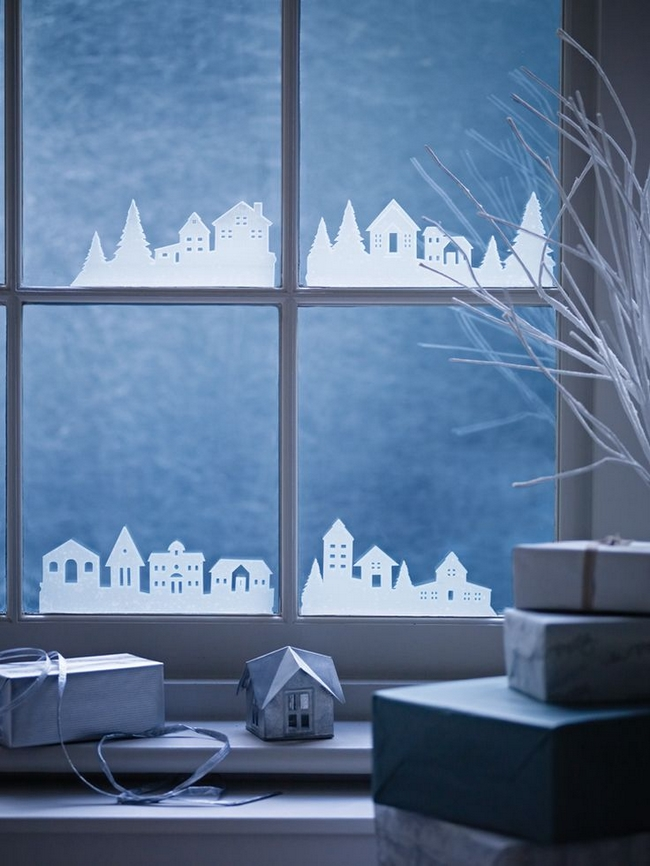 christmas-window-decor-houses-silhouettes-white-plastic