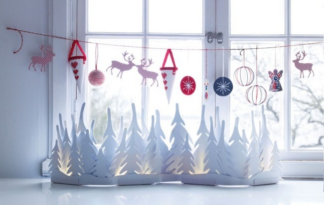 christmas-window-decor-white-trees-silhouettes-garland
