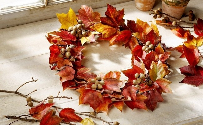 decorating for fall 20 ideas with autumn leaves and fruits - Decorating For Autumn