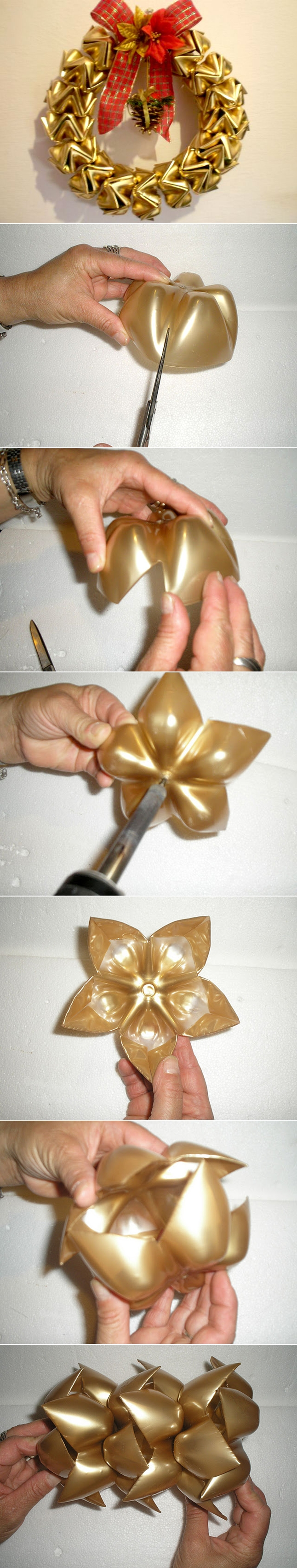 diy-christmas-wreath-tutorial-pet-bottles-gold