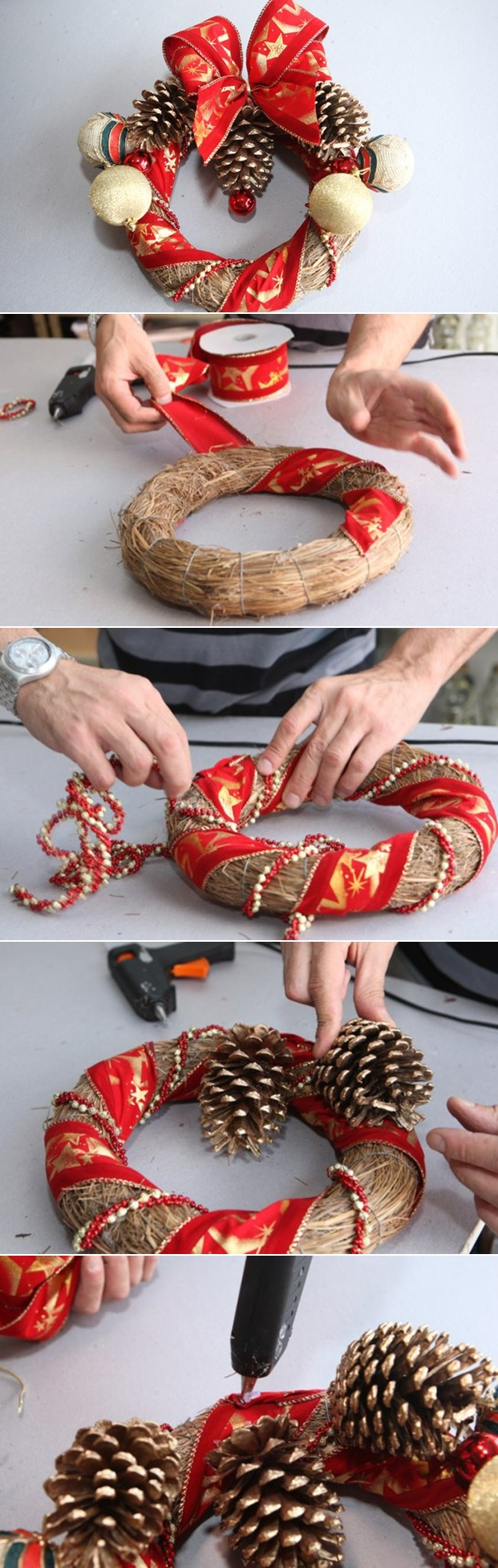 diy-christmas-wreath-tutorial-ribbons-pine-cones