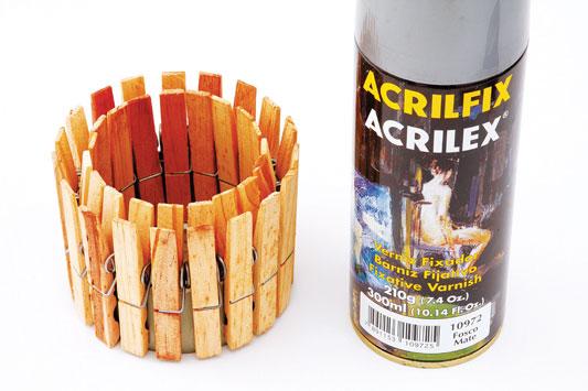 diy fall candle holders clothespins tuna tin can varnish spray