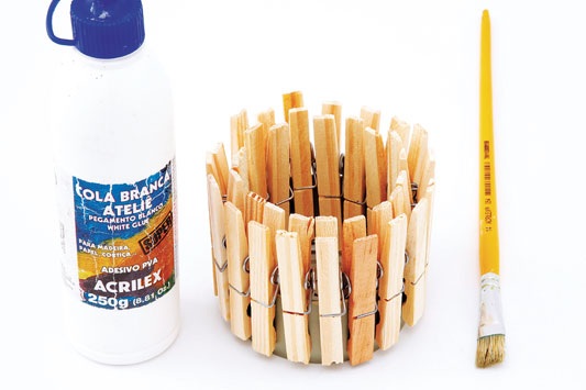 diy fall candle holders tin can wood clothespins glue