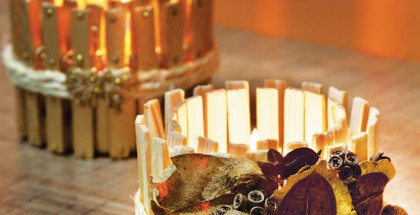 diy-fall-candle-holders-wood-clothespins-seeds-dried-leaves-decor