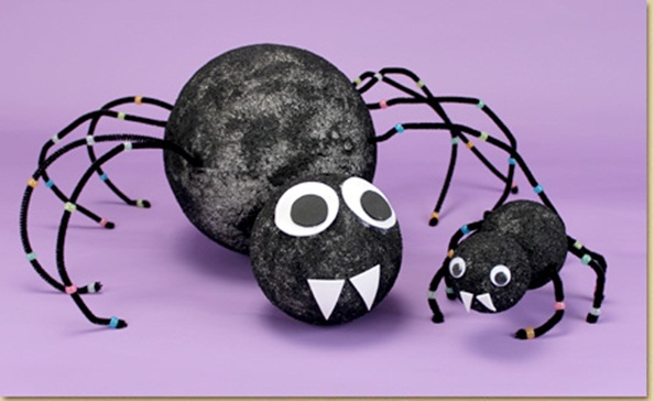 diy halloween crafts kids decor ideas spider foam balls pipe cleaners