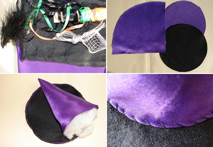 diy halloween hat witch kids costume materials
