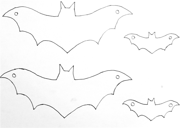 Halloween Bat Template A Cut out For The