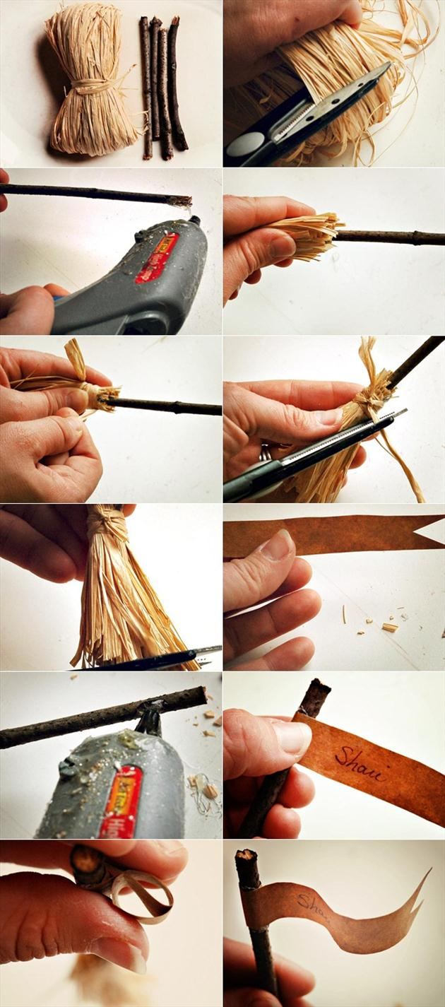 diy halloween table decor crafts tutorial marian parsons witch broomstick