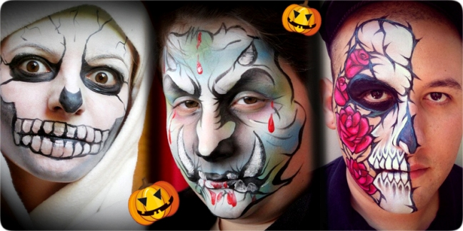 34 pretty and scary halloween makeup ideas for men women