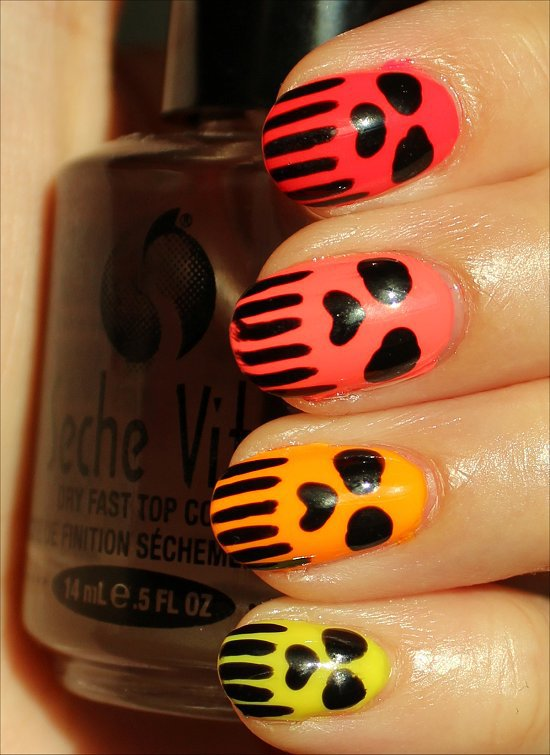 halloween makeup ideas nails punisher skulls