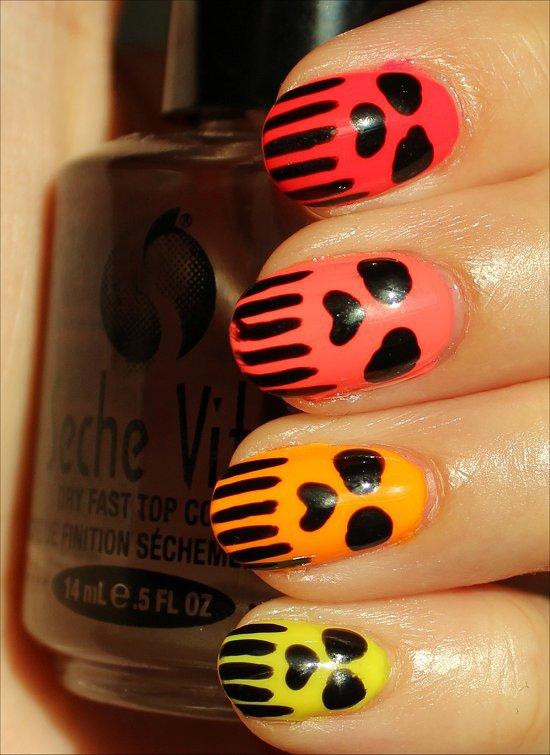 halloween makeup ideas nails punisher skulls