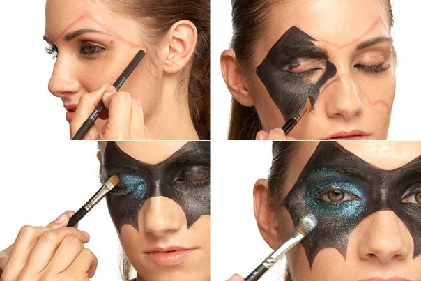 halloween makeup women black mask face painting - Womens Halloween Face Makeup
