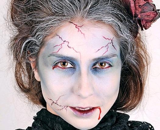 halloween makeup vampire zombie woman look
