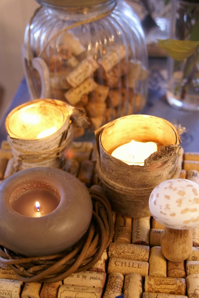 home-fall-decor-candleholders-birch-bark-cork-pad