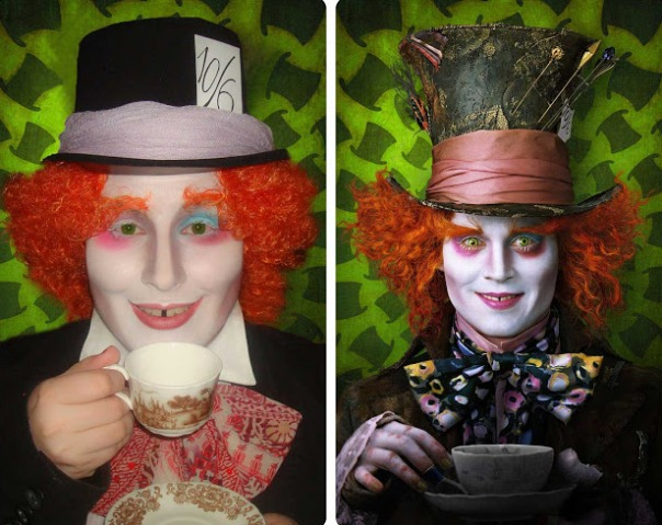 mad hatter halloween costume makeup tutorial