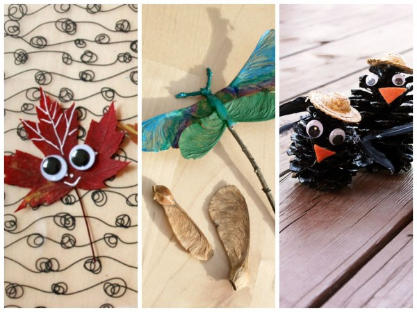 nature-inspired fall idecorating ideas crafts-leaves-pinecones