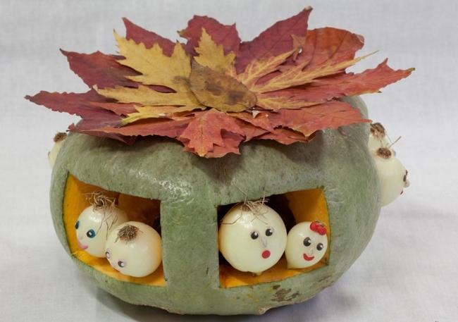 Nature inspired Fall Decor Idea UFO Pumpkin